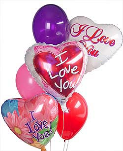 seni seviyorum yazili 15 adet renkli balon
