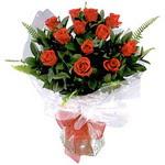 İstanbul Ümraniye çiçek , çiçekçi , çiçekçilik  9 adet güzel bir gül buketi