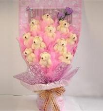 11 adet pelus ayicik buketi  İstanbul Ümraniye çiçek yolla