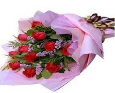 11 adet kirmizi güllerden görsel buket  İstanbul Ümraniye çiçek gönderme sitemiz güvenlidir