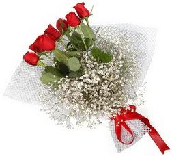 7 adet kirmizimi kirmizi gül buketi  İstanbul Ümraniye hediye sevgilime hediye çiçek