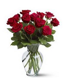 İstanbul Ümraniye çiçek gönderme sitemiz güvenlidir  cam yada mika vazoda 10 kirmizi gül
