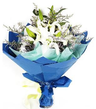 İstanbul Ümraniye anneler günü çiçek yolla  4 adet dal kazablankadan görsel buket