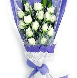 İstanbul Ümraniye çiçekçi mağazası  11 adet beyaz gül buket modeli