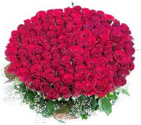 İstanbul Ümraniye online çiçekçi , çiçek siparişi  100 adet kırmızı gülden görsel buket