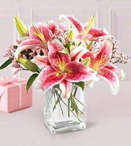 2 dal kazablanka görsel vazosu  İstanbul Ümraniye çiçek siparişi sitesi
