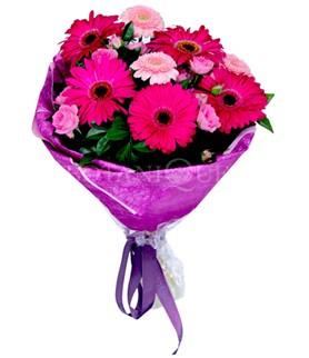 İstanbul Ümraniye çiçek siparişi sitesi  karışık gerbera çiçeği buketi