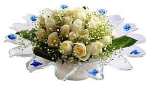 İstanbul Ümraniye çiçek online çiçek siparişi  11 adet Beyaz güller özel cam tanzim