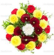 İstanbul Ümraniye çiçekçi mağazası  13 adet mevsim çiçeğinden görsel buket