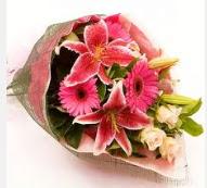 1 dal kazablanka ve mevsim çiçekleri  İstanbul Ümraniye internetten çiçek siparişi