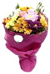1 demet karışık görsel buket  İstanbul Ümraniye anneler günü çiçek yolla