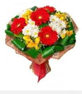 1 demet karışık buket  İstanbul Ümraniye hediye sevgilime hediye çiçek