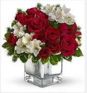 11 adet kırmızı gül ve beyaz kır çiçekleri  İstanbul Ümraniye 14 şubat sevgililer günü çiçek