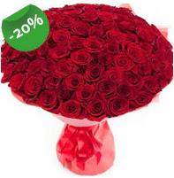 Özel mi Özel buket 101 adet kırmızı gül  İstanbul Ümraniye anneler günü çiçek yolla