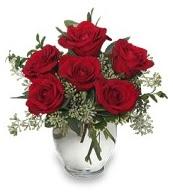 Vazo içerisinde 5 adet kırmızı gül  İstanbul Ümraniye çiçekçi mağazası