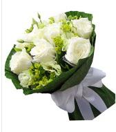 9 adet beyaz gül buketi  İstanbul Ümraniye çiçek siparişi sitesi