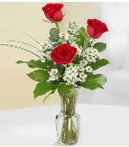Vazo içerisinde 3 adet kırmızı gül  İstanbul Ümraniye çiçek satışı