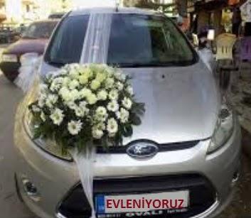 İstanbul Ümraniye ucuz çiçek gönder  Gelin arabası süslemesi