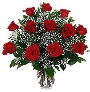 İstanbul Ümraniye çiçekçi mağazası  12 adet kırmızı gülden vazo tanzimi