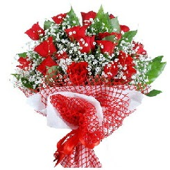 11 kırmızı gülden buket  İstanbul Ümraniye 14 şubat sevgililer günü çiçek