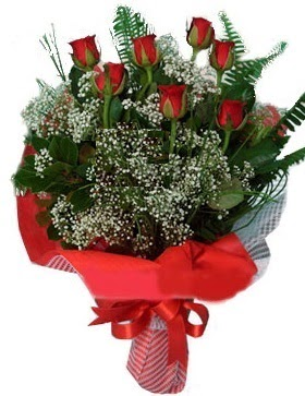 7 kırmızı gül buketi  İstanbul Ümraniye çiçek servisi , çiçekçi adresleri