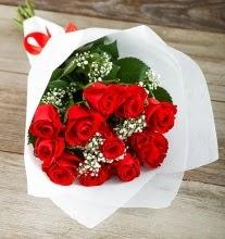 9 kırmızı gülden buket çiçeği  İstanbul Ümraniye çiçek gönderme