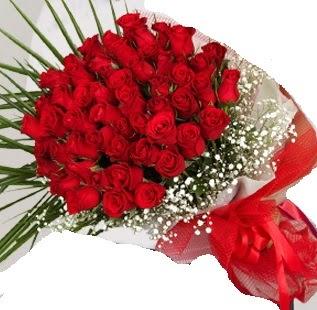 51 adet kırmızı gül buketi  İstanbul Ümraniye çiçek gönderme sitemiz güvenlidir