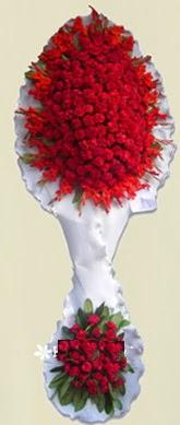 Çift katlı kıpkırmızı düğün açılış çiçeği  İstanbul Ümraniye anneler günü çiçek yolla