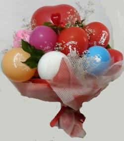 Benimle Evlenirmisin balon buketi  İstanbul Ümraniye uluslararası çiçek gönderme