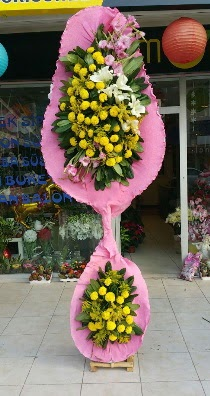 Çift katlı düğün açılış çiçeği  İstanbul Ümraniye çiçek servisi , çiçekçi adresleri