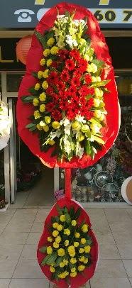 Çift katlı düğün açılış çiçek modeli  İstanbul Ümraniye çiçek servisi , çiçekçi adresleri