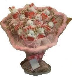 12 adet tavşan buketi  İstanbul Ümraniye çiçek mağazası , çiçekçi adresleri