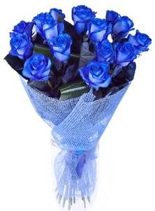 12 adet mavi gül buketi  İstanbul Ümraniye çiçek servisi , çiçekçi adresleri