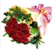 12 adet kırmızı gül ve papatyalar  İstanbul Ümraniye anneler günü çiçek yolla