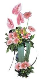 İstanbul Ümraniye güvenli kaliteli hızlı çiçek  Pembe Antoryum Harikalar Rüyasi