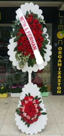 Çift katlı düğün nikah çiçeği modeli  İstanbul Ümraniye çiçek siparişi sitesi