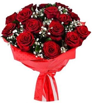 Kız isteme çiçeği buketi 17 adet kırmızı gül  İstanbul Ümraniye çiçekçi telefonları