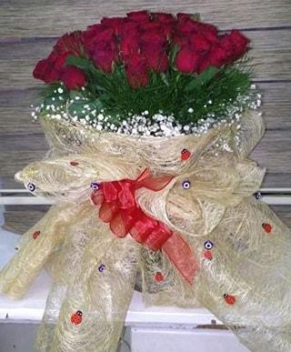 41 adet kırmızı gülden kız isteme buketi  İstanbul Ümraniye internetten çiçek satışı