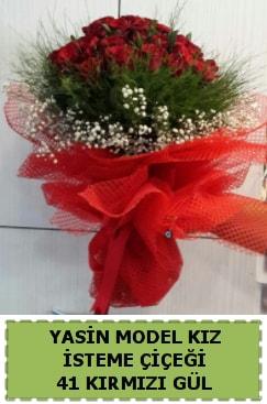 41 Adet kırmızı gül kız isteme çiçeği  İstanbul Ümraniye çiçek gönderme sitemiz güvenlidir