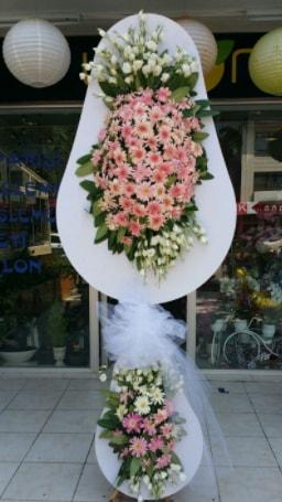 Çift katlı özel şahane sepet çiçeği  İstanbul Ümraniye çiçekçi telefonları