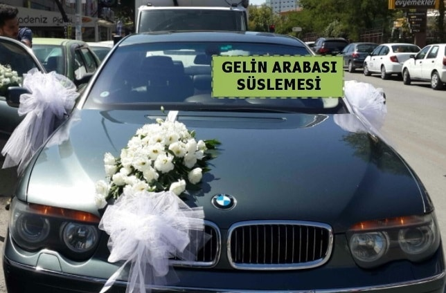 Gelin Arabası süslemesi Düğün arabası  İstanbul Ümraniye çiçek yolla