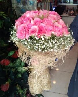 33 adet pembe gül nişan kız isteme buketi  İstanbul Ümraniye çiçek gönderme sitemiz güvenlidir