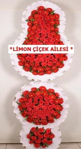 3 katlı kırmızı düğün açılış çiçeği  İstanbul Ümraniye çiçek gönderme