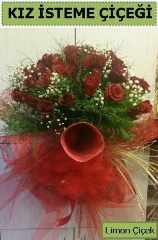 41 adet kırmızı gülden kız isteme buketi  İstanbul Ümraniye çiçek satışı