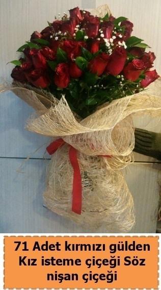 71 adet kırmızı gül söz nişan çiçeği  İstanbul Ümraniye çiçek satışı