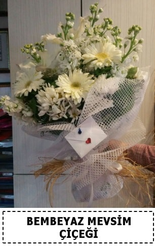 Bembeyaz görsel mevsim çiçek buketi  İstanbul Ümraniye çiçek yolla