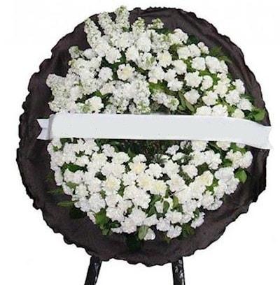 Cenaze çelengi çiçeği modelleri  İstanbul Ümraniye internetten çiçek satışı