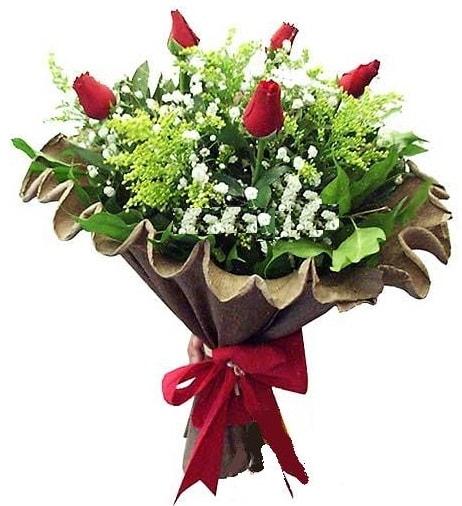 5 adet gülden buket  İstanbul Ümraniye çiçek gönderme sitemiz güvenlidir