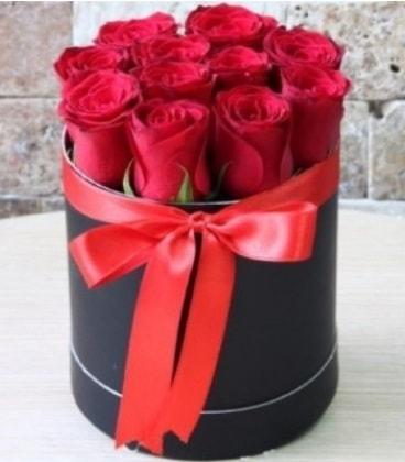 Kutu içerisinde 9 adet kırmızı gül  İstanbul Ümraniye çiçekçiler