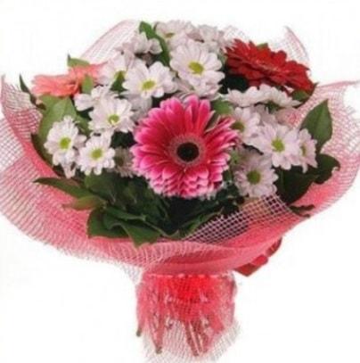 Gerbera ve kır çiçekleri buketi  İstanbul Ümraniye internetten çiçek siparişi